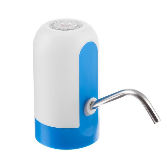 Помпа Centek CT-3000 White, электрическая, 5 Вт, 1.2 л/мин, 1200 мАч, от USB, бело-голубая