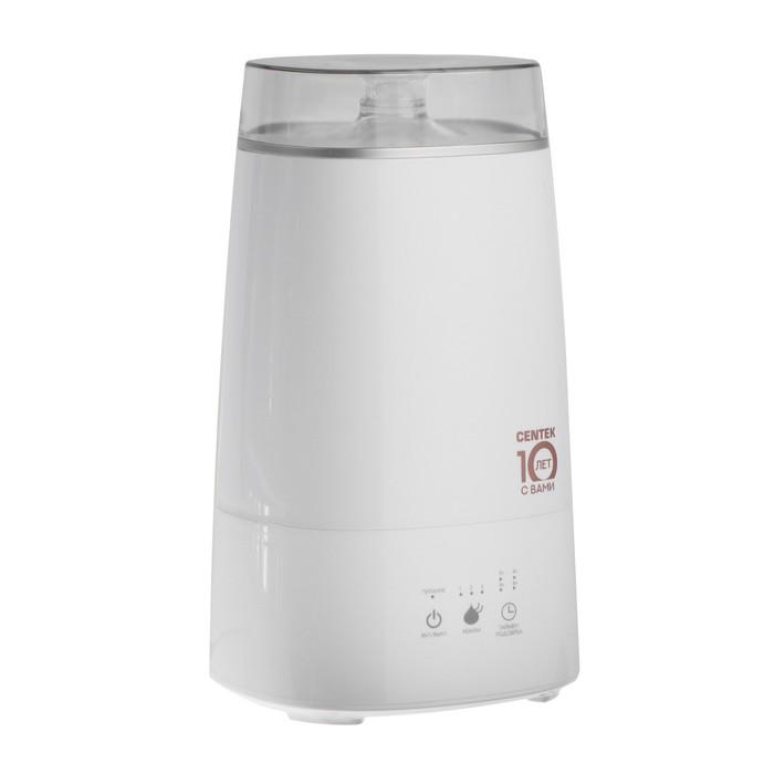 Увлажнитель воздуха Centek СТ-5108, ультразвуковой, 25 Вт, 3 л, 20 м2, белый