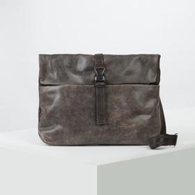 Сумка мужская, отдел на молнии, наружный карман, цвет коричневый