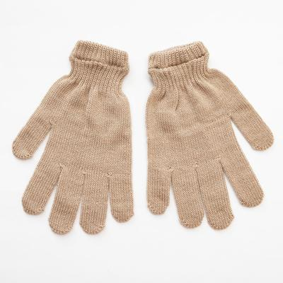 Women's gloves, beige color, R-R 18