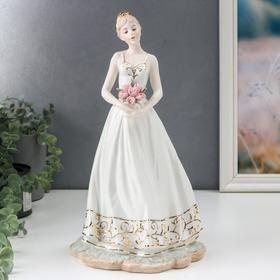 """Сувенир керамика """"Девушка в белом"""" 33х18х16 см"""