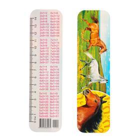 Закладка картонная 'Лошади' глиттер Ош