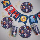 """Set of paper tableware """"Happy New Year"""", animals"""