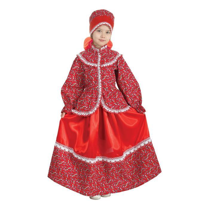Русский народный костюм «Забава», головной убор, блуза, юбка, рост 98-104 см - фото 3420070