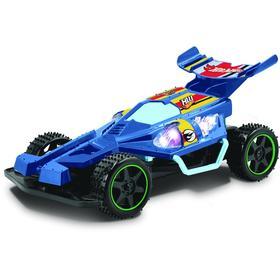 Машина «Багги» 1:18, цвет синий на радиоуправлении, со светом, работает от батареек