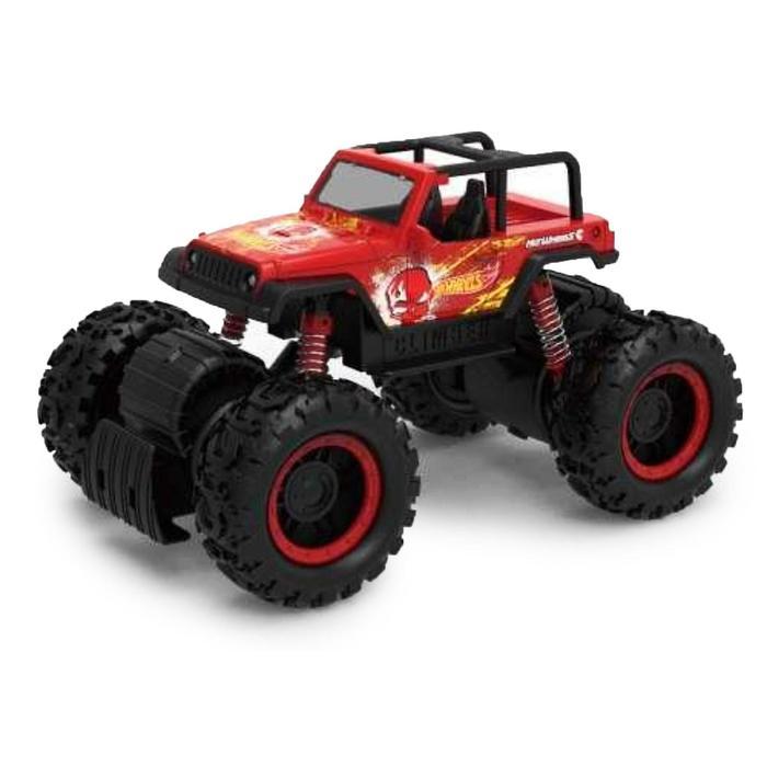 Машина «Монстр-трак» 1:16, цвет красный с амортизаторами, световые эффекты