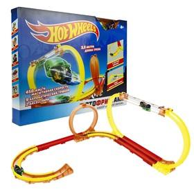 Игровой набор «Мотофристайл инерционный мотобайк» 15 деталей трека, 2 аксессуара для трюков