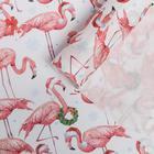 "Craft packaging paper ""Flamingos in caps"", 50 × 70 cm"