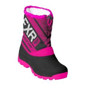Ботинки детские FXR Octane, размер 34, чёрный, фиолетовый