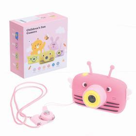 Детский фотоаппарат «Пчёлка», цвет розовый