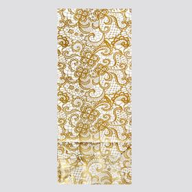 Package of 3 layers, lace-gold, 8 x 5 x 20.5 cm