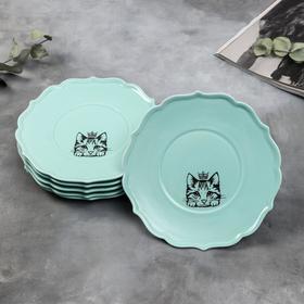 {{photo.Alt || photo.Description || 'Набор тарелок «Кошка», 20 см, голубые, 6 шт'}}