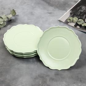 Набор тарелок «Зелёные», 20 см, 6 шт
