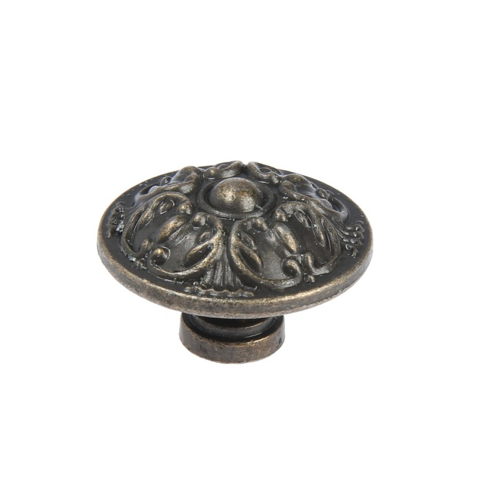 Ручка кнопка TUNDRA VINTAGE 005, цвет бронза, 1 шт - фото 3157180