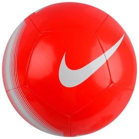 Мяч футбольный NIKE Pitch Team, размер 5, 12 панелей, TPU, машинная сшивка, бутиловая камера, цвет коралл