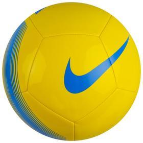 Мяч футбольный NIKE Pitch Team, размер 5, 12 панелей, TPU, машинная сшивка, бутиловая камера, желтый/синий