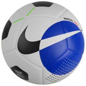 Мяч футзал NIKE Pro, размер 4, 12 панелей, TPU, FIFA PRO, машинная сшивка, белый/чёрный/синий