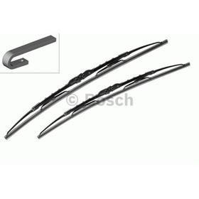 Щетка стеклоочистителя каркасная, 550/340 мм, Bosch Twin, 2 шт, 3397010274