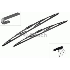 Щетка стеклоочистителя каркасная, 650/550 мм, Bosch Twin, с омывателем, 2 шт, 3397001725