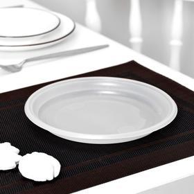 Тарелка d=20,5 см, 100 шт/уп, цвет белый Ош