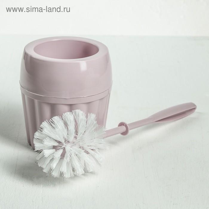 "Ерш для унитаза с подставкой ""Модерн"", цвет МИКС"