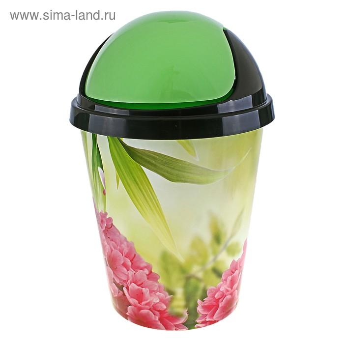 """Контейнер для мусора 10 л """"Азалия"""", цвет зеленый"""