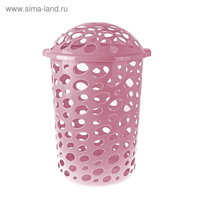 """Корзина для белья 45 л, """"Сорренто"""", цвет розовый"""