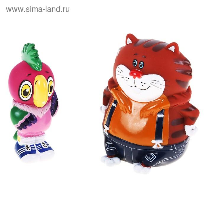 """Набор резиновых игрушек """"Кеша и Кот"""""""