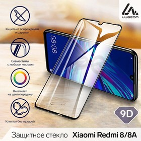 9D LuazON safety glass for Xiaomi Redmi 8/8A, full adhesive, 0.33 mm, 9H