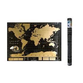 Скетч карта мира «True map Black»