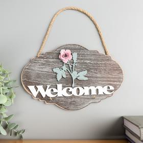 "Decorative tree hooks ""Pink rose-Welcome"" 15x22, 5x2, 5 cm"