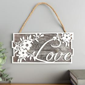 "Decorative hooks tree ""Flower branch-Love"" 11, 7x23, 5x2, 5 cm"