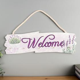 """Decorative tree hooks """"lavender Bouquet-Welcome"""" 10, 5x36x2, 7 cm"""