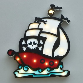 "Ночник ""Пиратский корабль"" 20хLED батарейки 2ААА 25,5,х3,5х29,5 см"