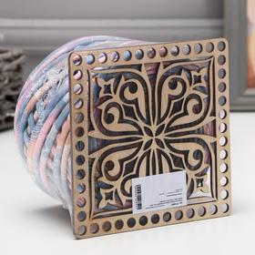 Knitting set (15cm plywood bottom, trik. yarn 100m, 7-9mm) No. 10