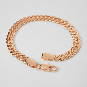 "Bracelet metal ""Chain"" wide, gold color, 21cm"