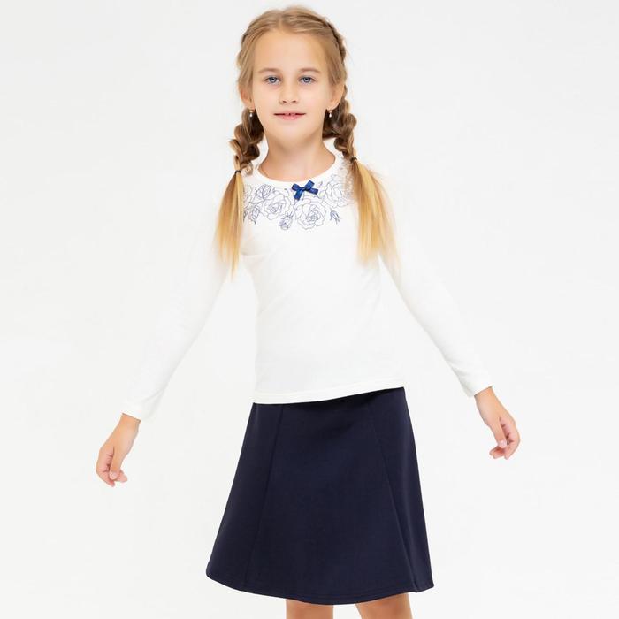 Блузка для девочки, цвет белый, рост 122 см - фото 105766940