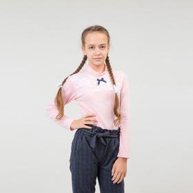 Водолазка для девочки, цвет розовый, рост 122 см
