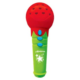 Микрофончик с огоньками «Новогодние песенки», цвет красный
