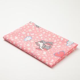 Пелёнка Collorista «Зайки», 70х120 см, цвет розовый