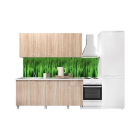 Кухонный гарнитур «Поинт», 1,8м, ЛДСП, столешница «Антарес» 28 мм, без мойки, цвет сонома