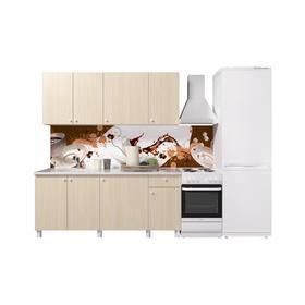 Кухонный гарнитур «Поинт», 1,8м, ЛДСП, столешница «Антарес» 28 мм, без мойки, цвет феррара