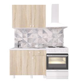 Кухонный гарнитур «Поинт», 1 м, ЛДСП, столешница «Антарес» 28 мм, без мойки, цвет сонома