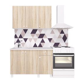Кухонный гарнитур «Поинт», 1,2 м, ЛДСП, столешница «Антарес» 28 мм, без мойки, цвет сонома