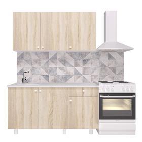 Кухонный гарнитур «Поинт», 1,5 м, ЛДСП, столешница «Антарес» 28 мм, без мойки, цвет сонома