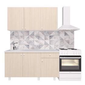 Кухонный гарнитур «Поинт», 1,5 м, ЛДСП, столешница «Антарес» 28 мм, без мойки, цвет феррара   536185