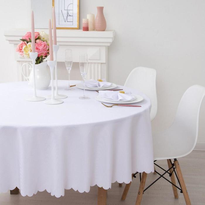 Plain tablecloth, color, d 200, 100% p/e