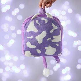 Рюкзак детский новогодний «Коровка» 28х28 см