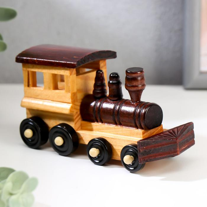 """Сувенир дерево """"Ретро. Поезд"""" 5,5х5х13,5 см"""