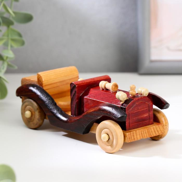 """Сувенир дерево """"Двухместный кабриолет"""" 5,2х6х15 см"""